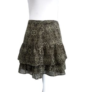 H&M Ruffle Animal Print Skirt